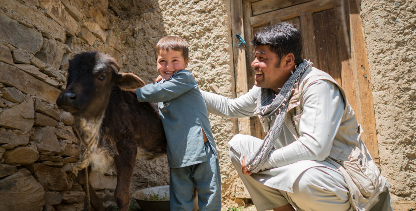 Aliha and his family have learned how to look after their animals properly.