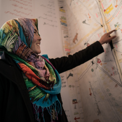 Afghanaid helps villagers map out risk areas in their community